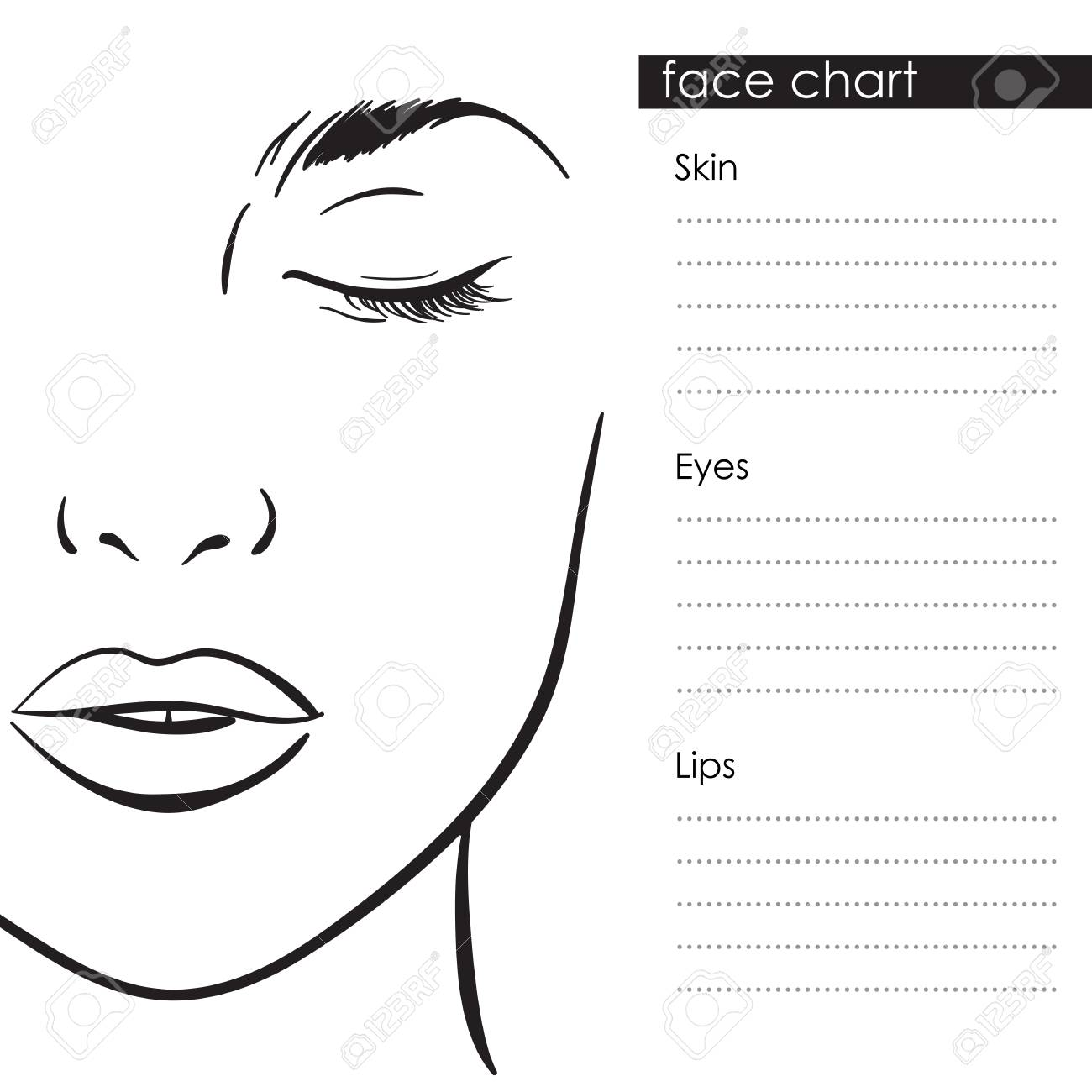 Blank Face Charts For Makeup Artists Ibovnathandedecker
