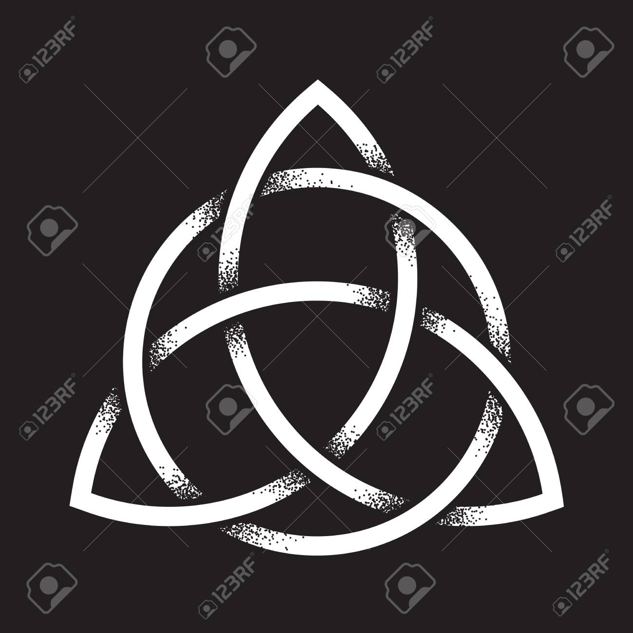 Triquetra or trinity knot hand drawn dot work ancient pagan hand drawn dot work ancient pagan symbol of eternity and trinity biocorpaavc