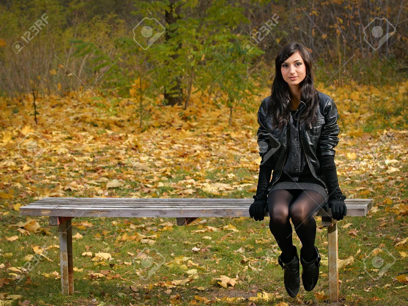 pretty girl alone in the park Stock Photo - 8785839