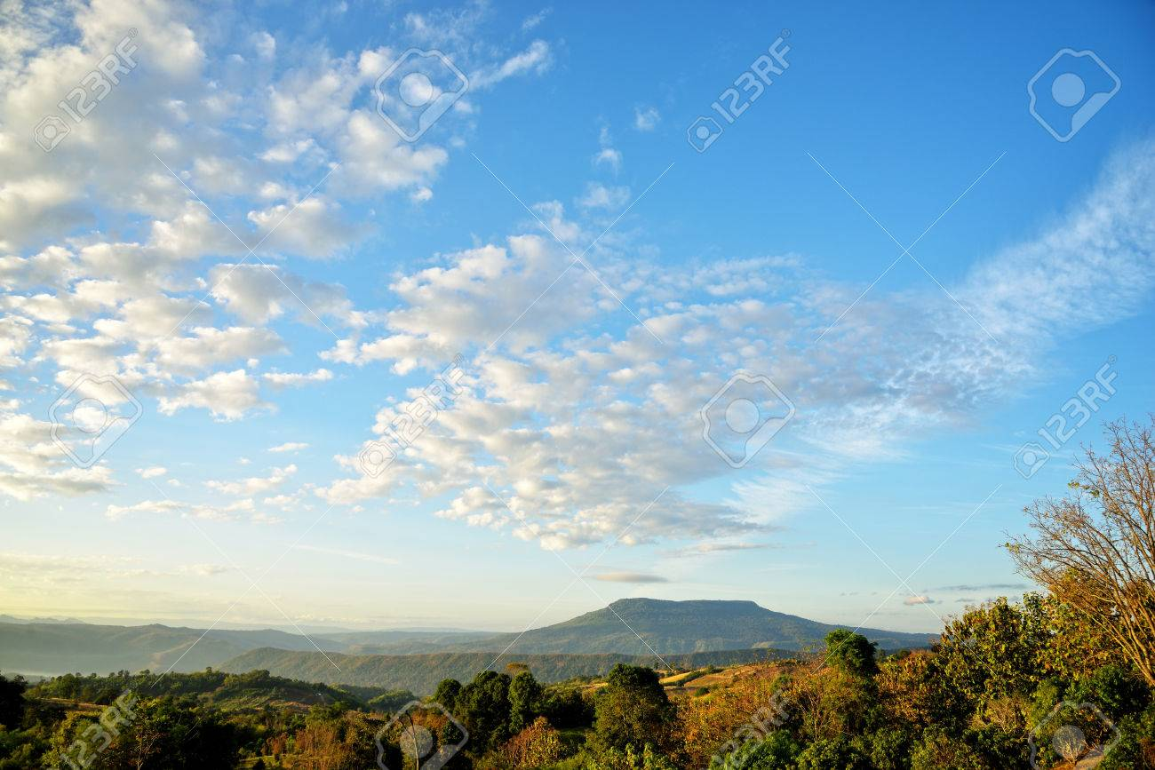 mountains backgrounds. Blue Sky, Mountains Backgrounds Stock Photo - 52014713
