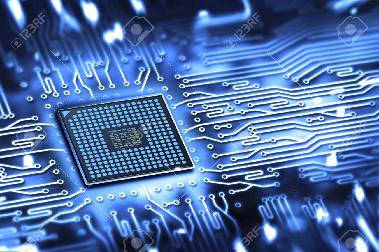 integrated microchip Stock Photo - 19122177