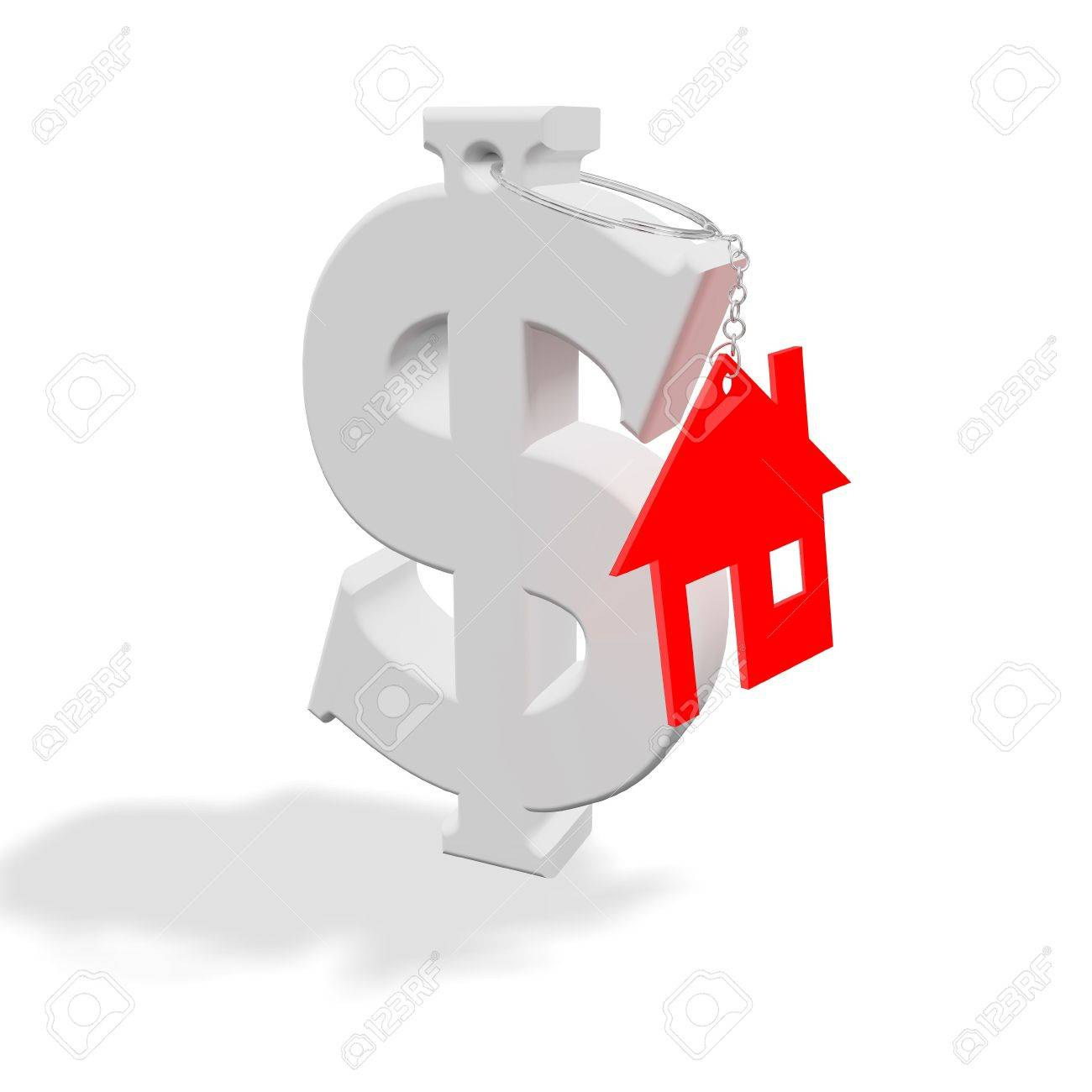 Abstract conceptual representation of property, housing, finance and real estate matters. Stock Photo - 6359744