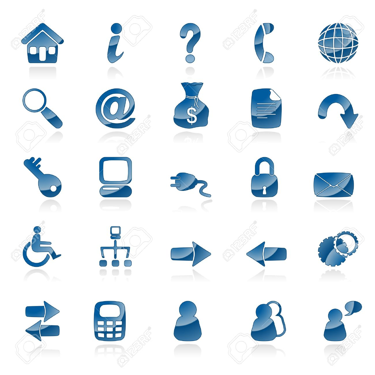 A set of 25 common web icons Stock Vector - 6366752