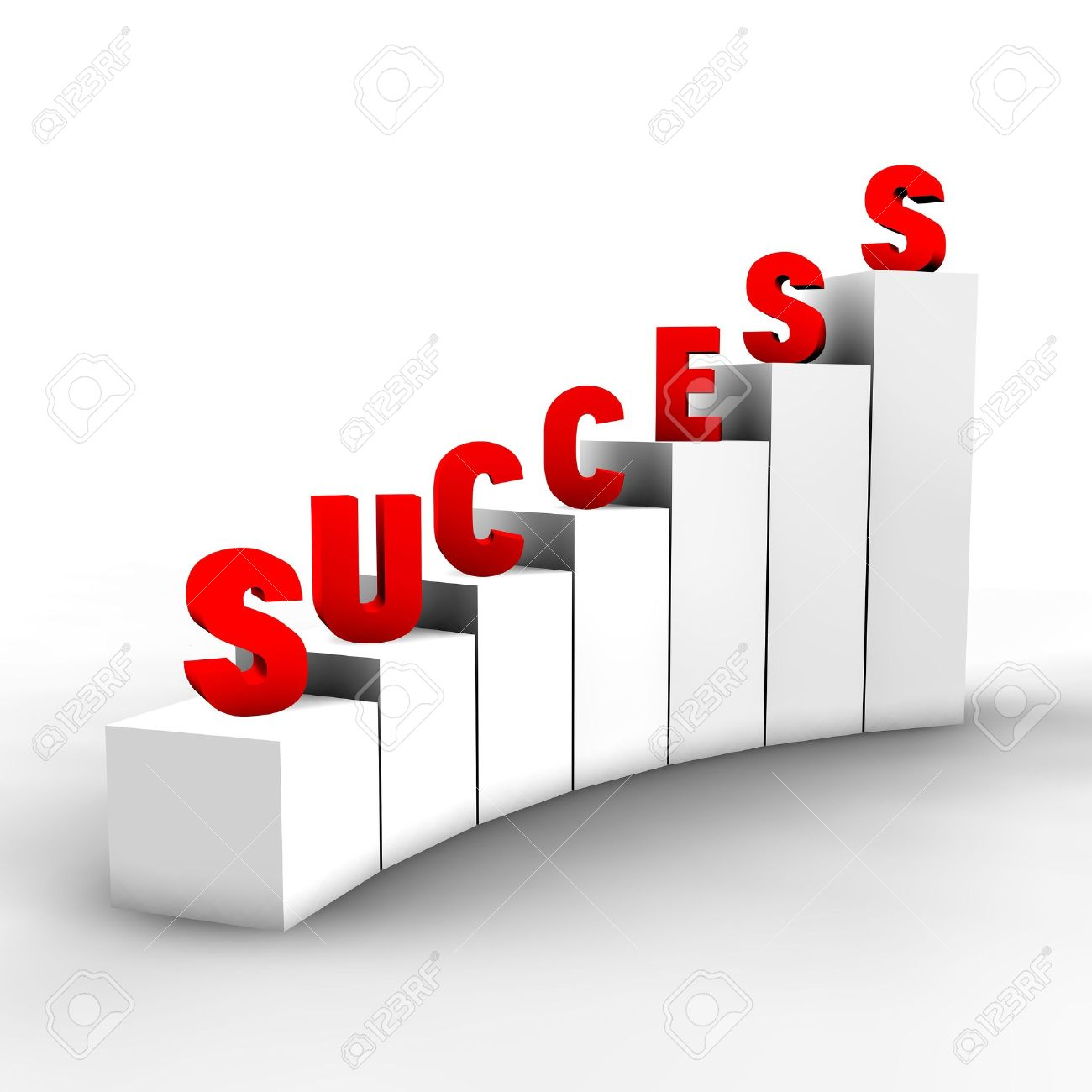 A concept of an abstract way to success in the competitive world of business or real life. Stock Photo - 7009818