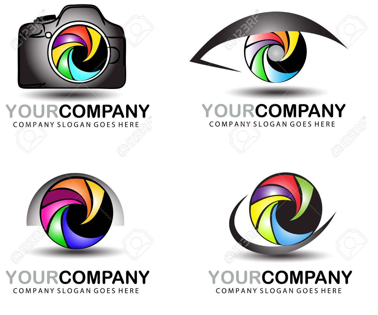 Camera Logo Set Photography Logo Design Royalty Free Cliparts Vectors And Stock Illustration Image 62178114