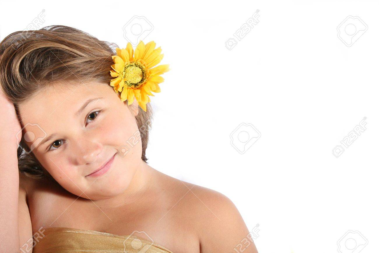 pretty preteen portrait Stock Photo - 579570