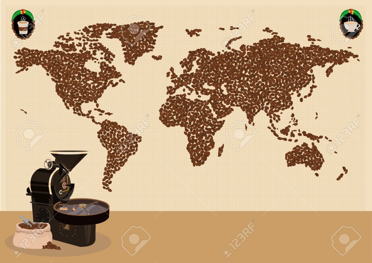Coffee drinkers infographic or use around the world map concept coffee drinkers infographic or use around the world map concept editable clip art illustration gumiabroncs Images