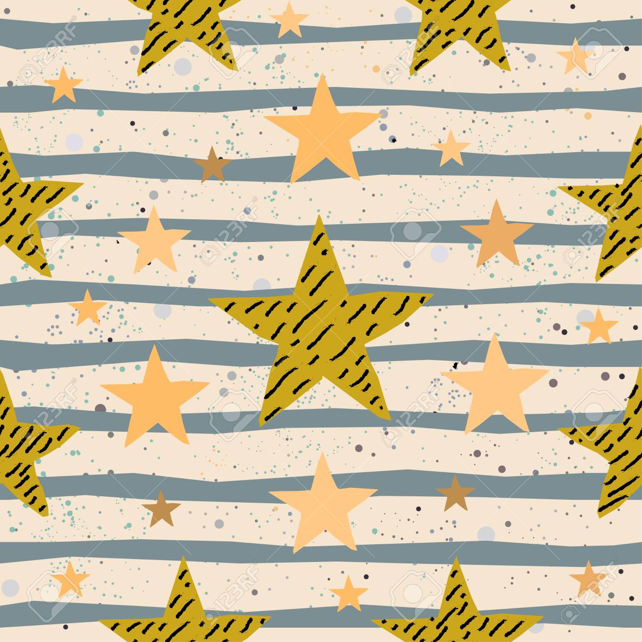 Cute Seamless Star Pattern. Great For Backgrounds, Backdrops ...