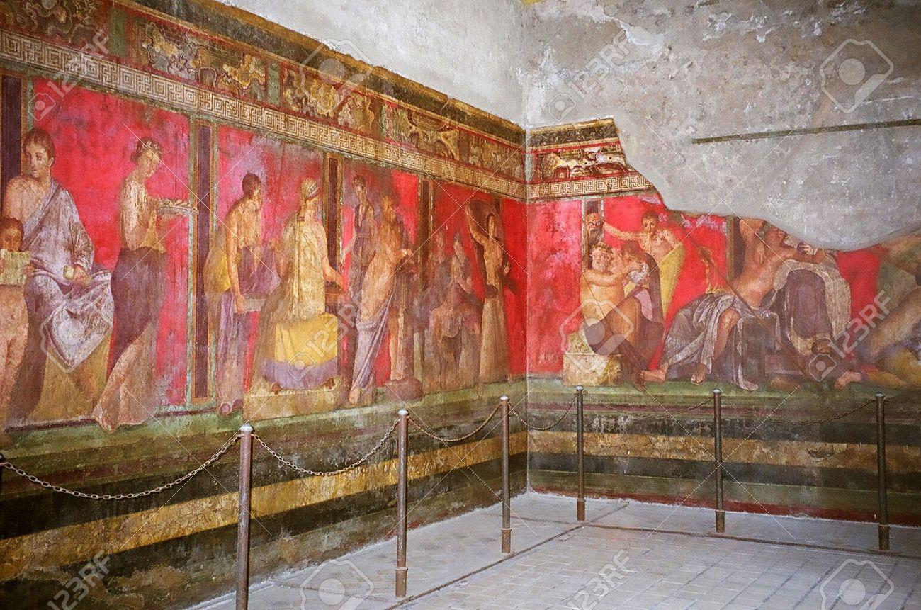 Les Peintures Murales De Pompéi En Italie