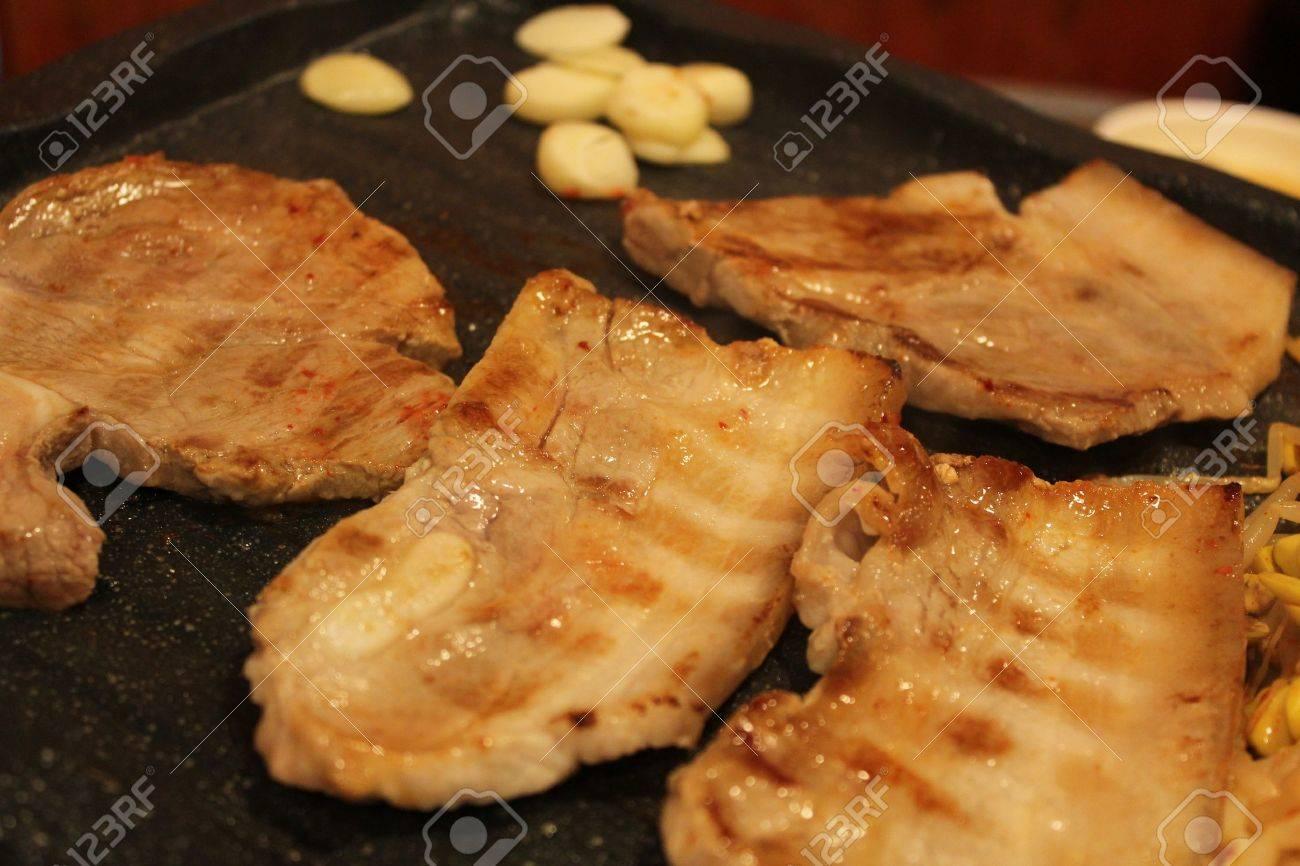 Korean Grilled Pork Belly Bbq Stock Photo 15475561