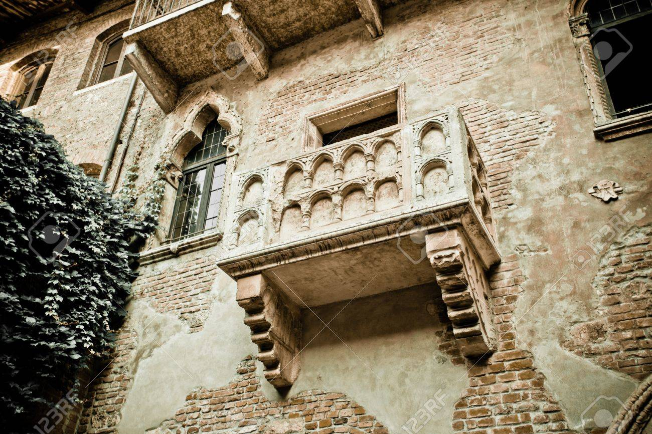 Romeo Und Julia Balkon In Verona Italien Kolorierte Foto Fur Alte