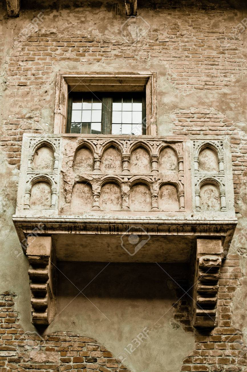 Romeo Und Julia Balkon In Verona Italien Colorized Foto Fur Alte