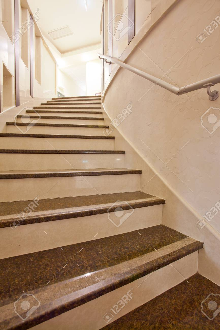 Superbe Interior Of Modern Marble Stairs Stock Photo   67062245