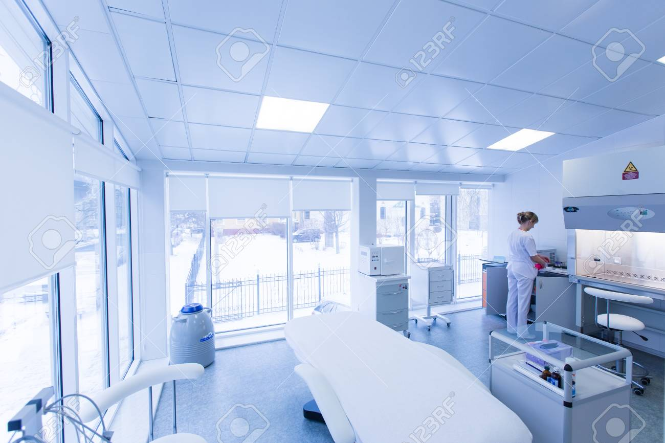 White medical office with equipment