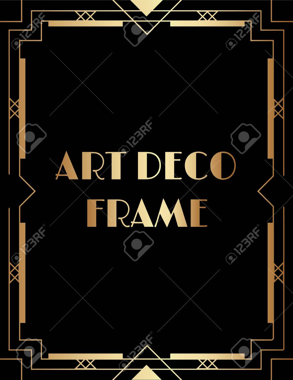 Geometric Gatsby Art Deco Style Print Frame Design Royalty Free Cliparts Vectors And Stock Illustration Image 147073363