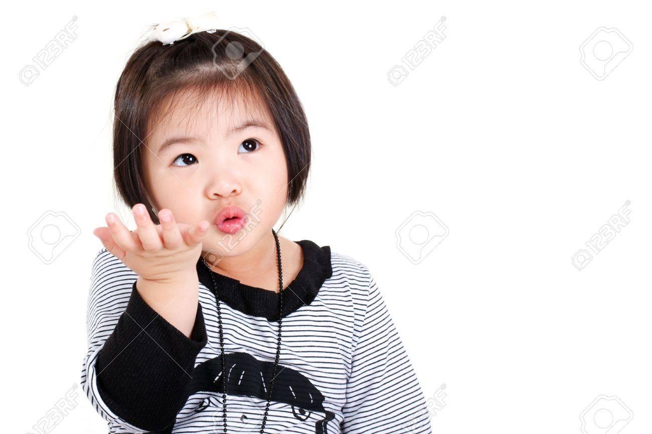 banque dimages mignonne petite fille chinoise