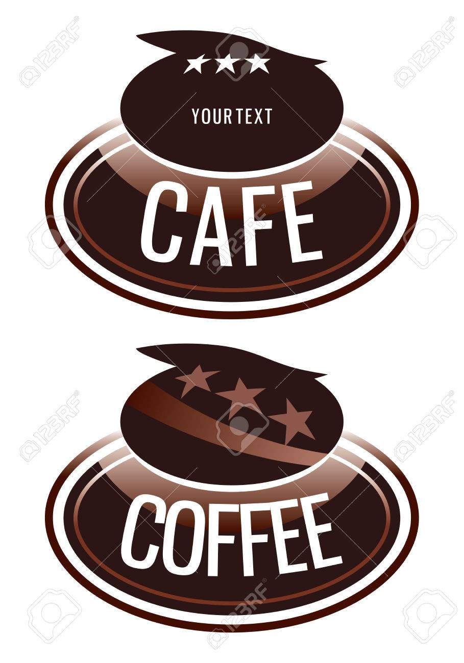 logo design for the coffee shop that sells Stock Vector - 8715986