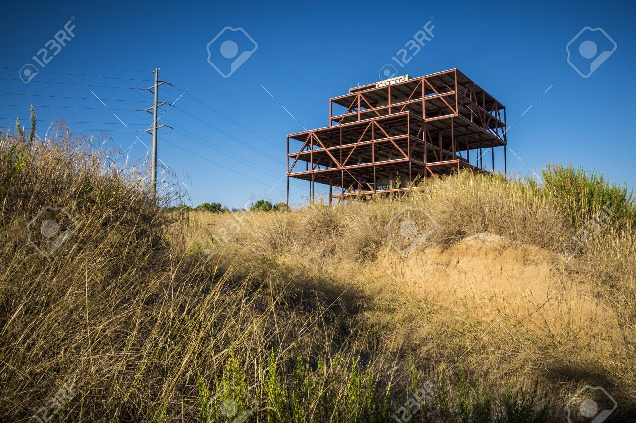 Abandoned Offices Construction In Sant Cugat Del Valles Barcelona