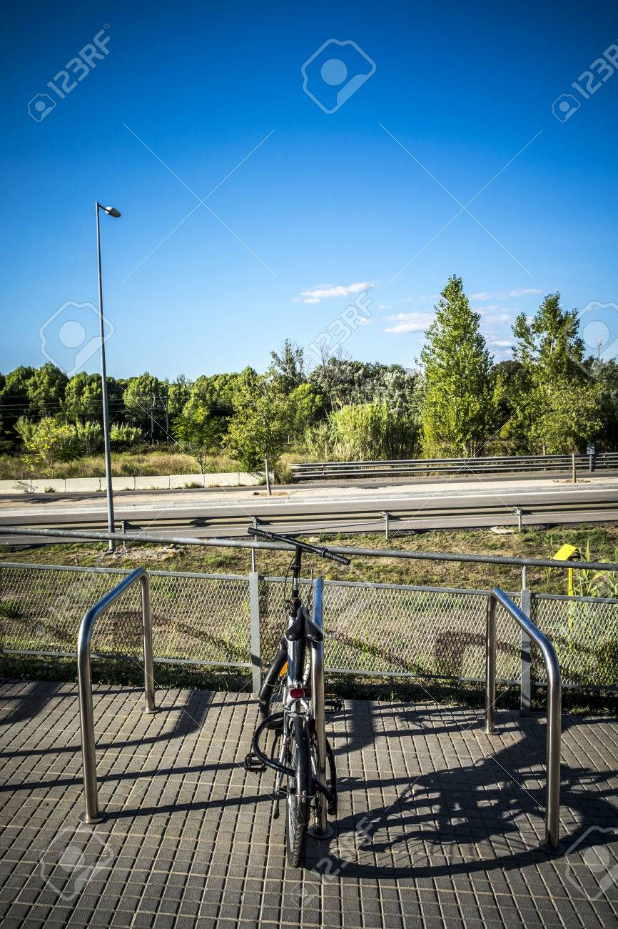 Parking For Bicycles In Sant Cugat Del Valles Barcelona Spain