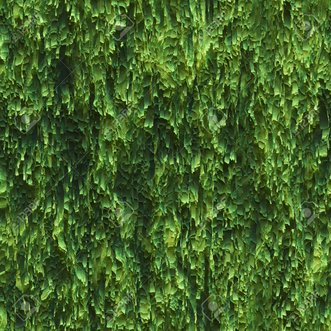 Seamless Texture Hanging Down Worn Out Ripped Rags Green Cloth