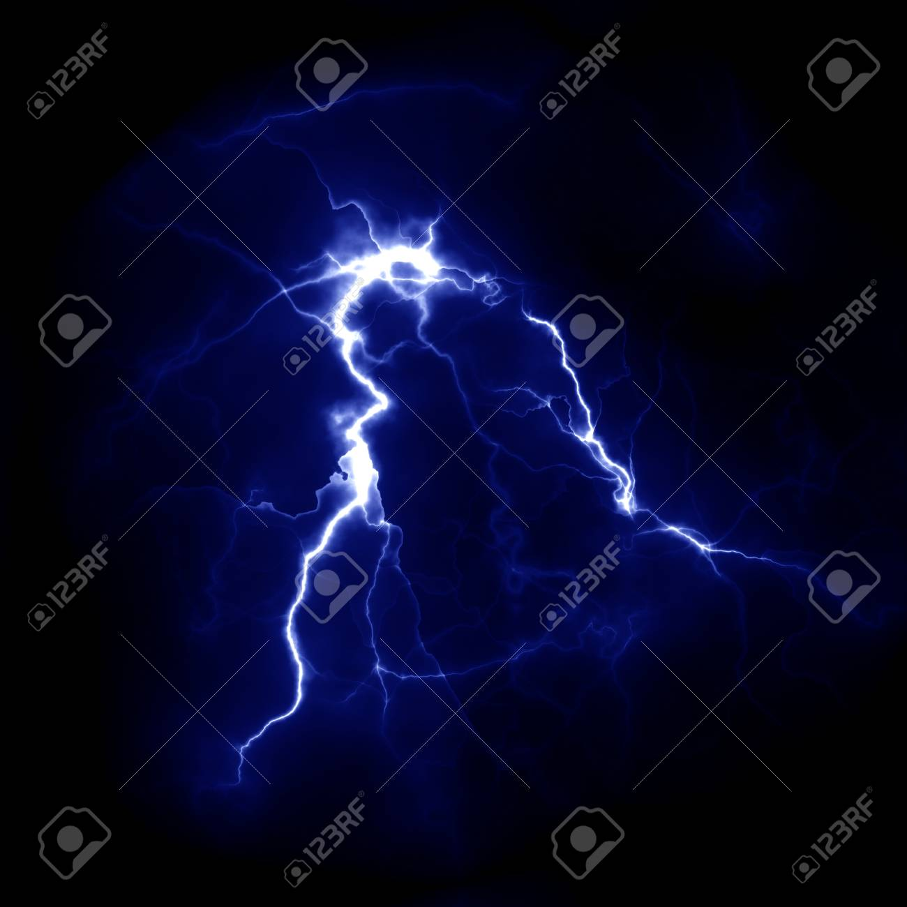 lightning template for design electric discharge in the sky