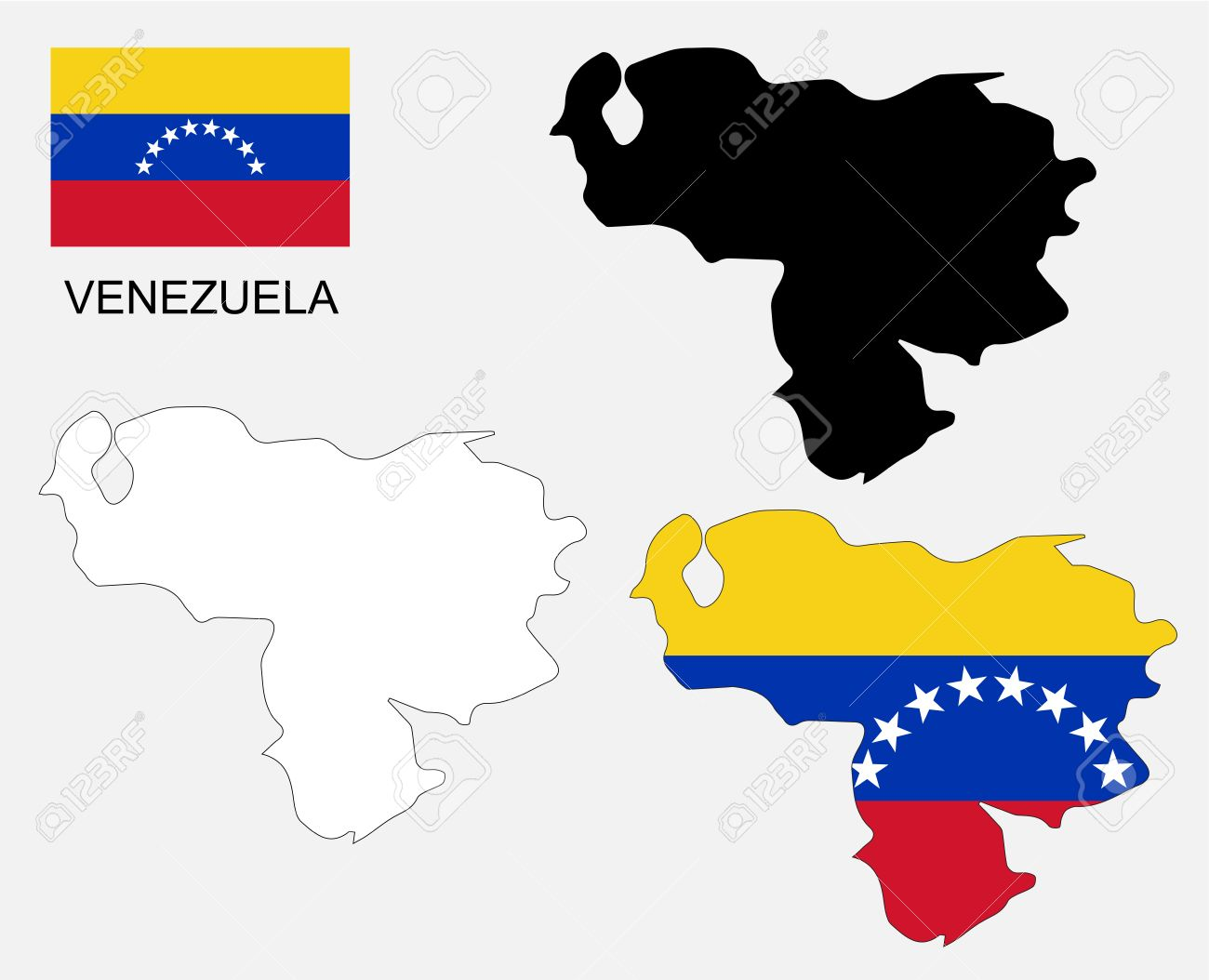 Venezuela Map And Flag Royalty Free Cliparts Vectors And Stock - Venezuela map