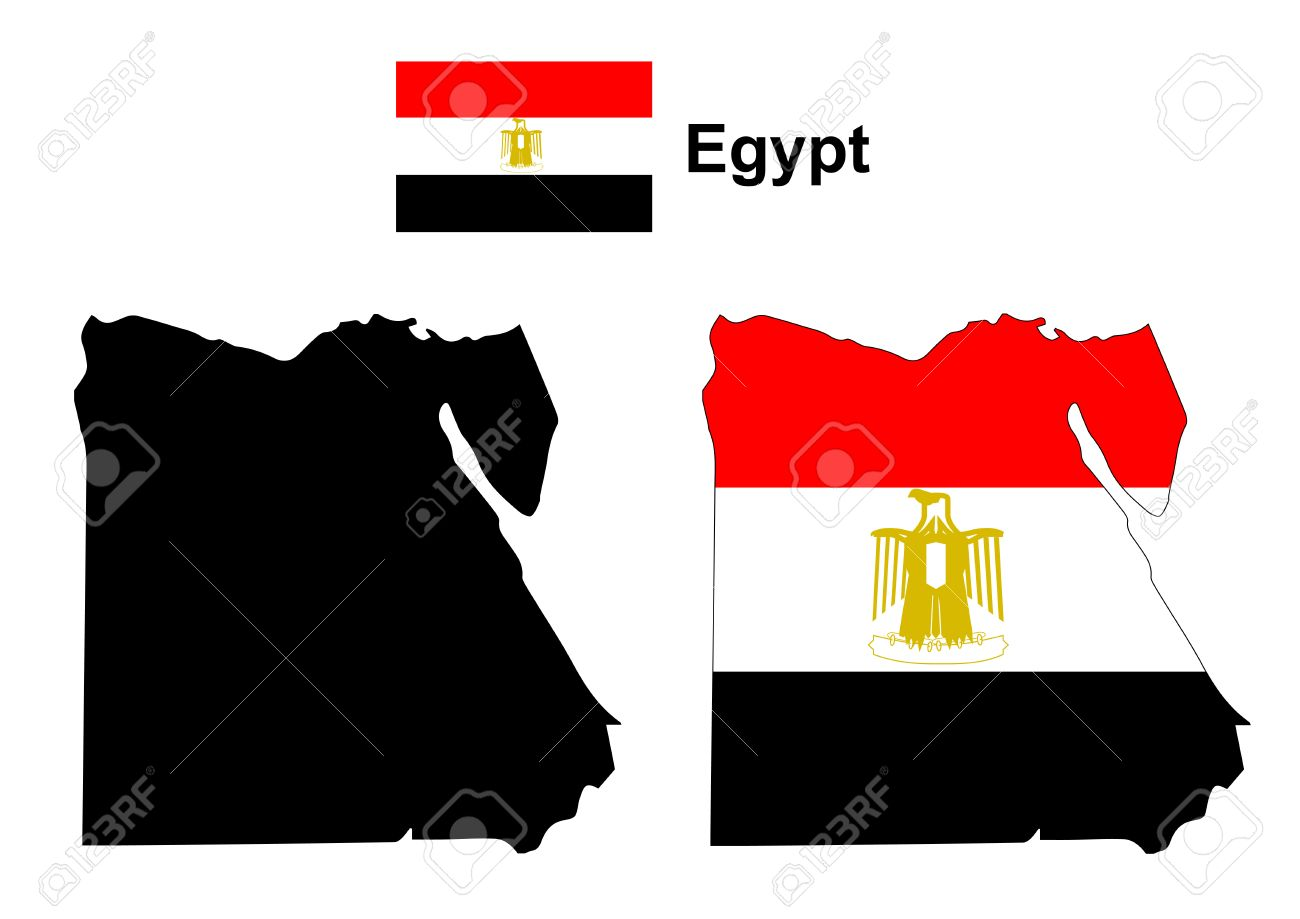 Egypt Map Vector Egypt Flag Vector Royalty Free Cliparts Vectors - Map of egypt vector