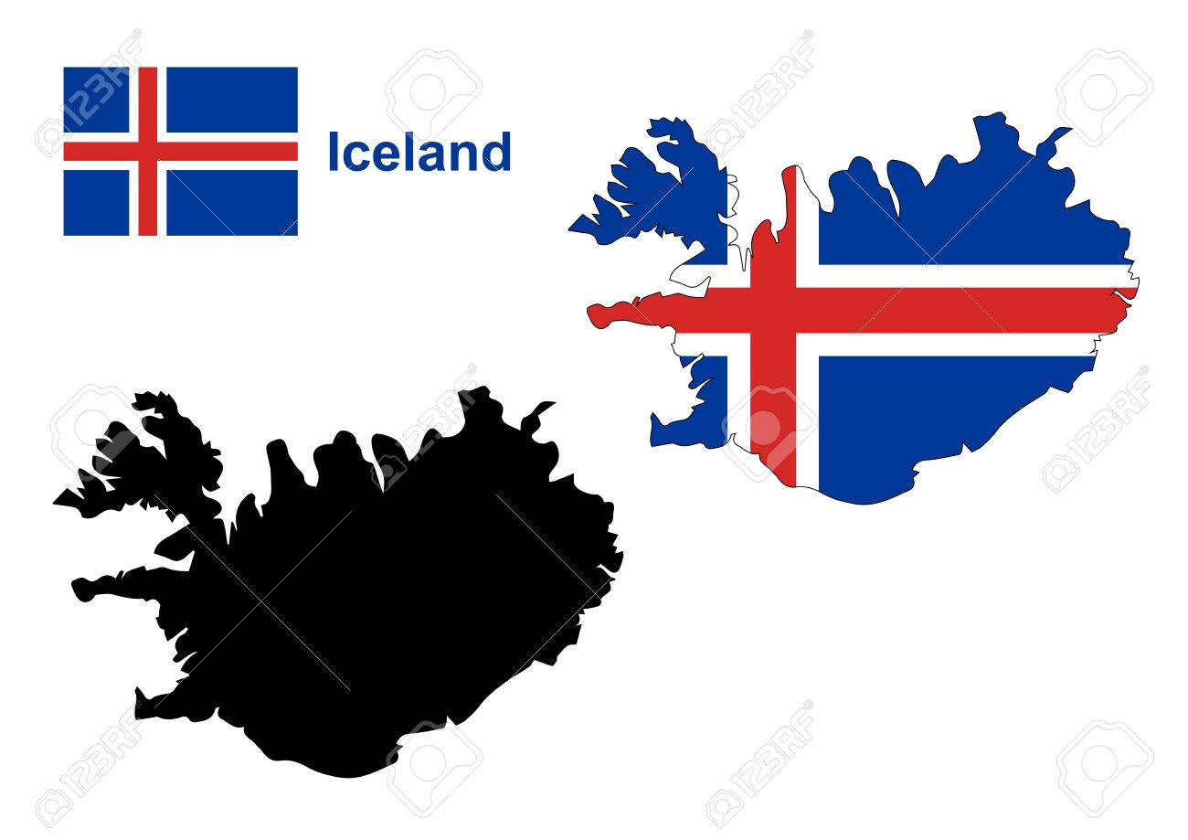 Iceland Map Vector, Iceland Flag Vector Royalty Free Cliparts ...