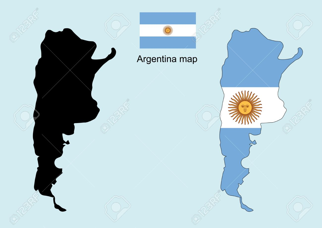 Argentina Map Vector Argentina Flag Vector Royalty Free Cliparts - Argentina map vector