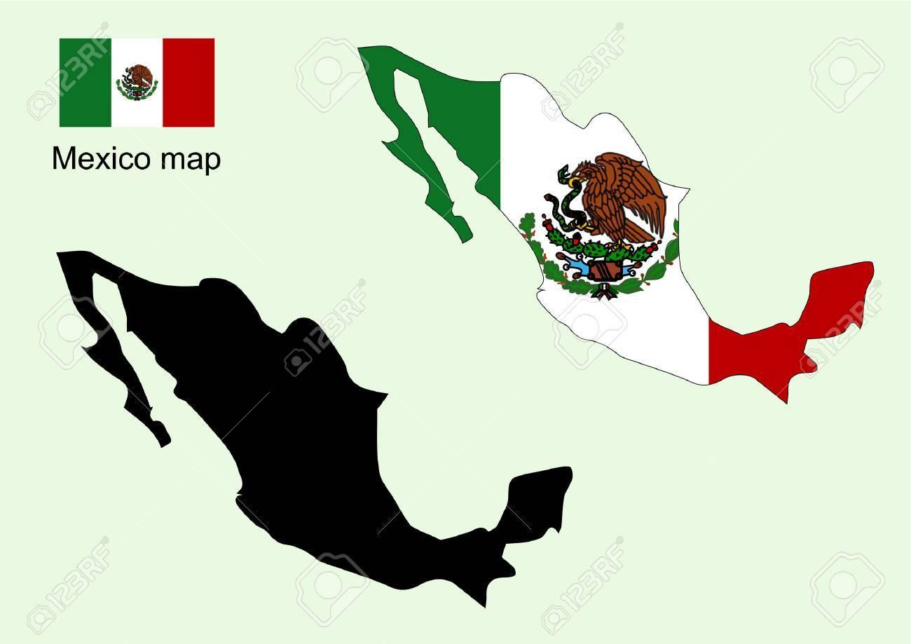 Mexico Map Vector Mexico Flag Vector Royalty Free Cliparts Vectors