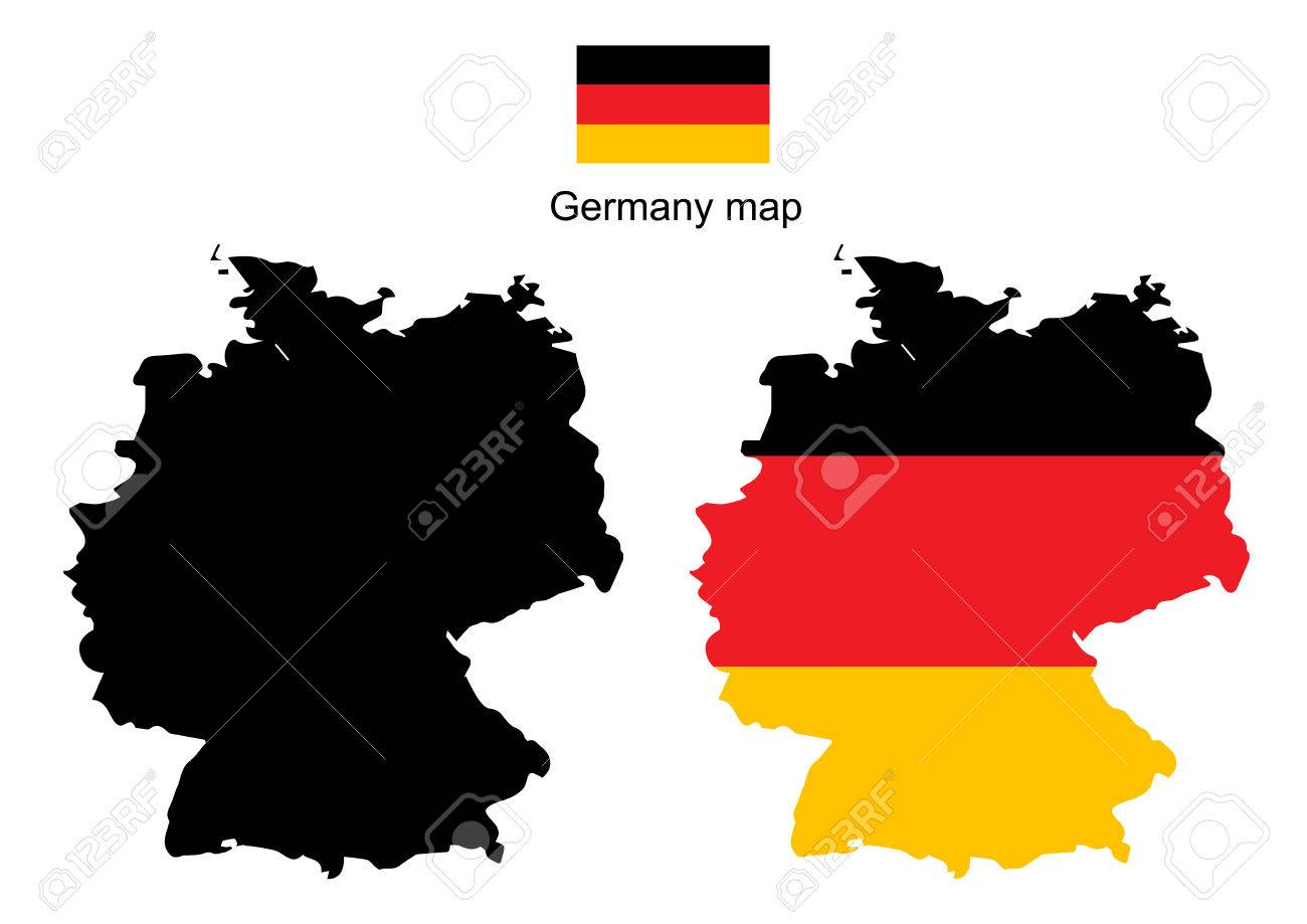 germany map vector germany flag vector stock vector 39075624