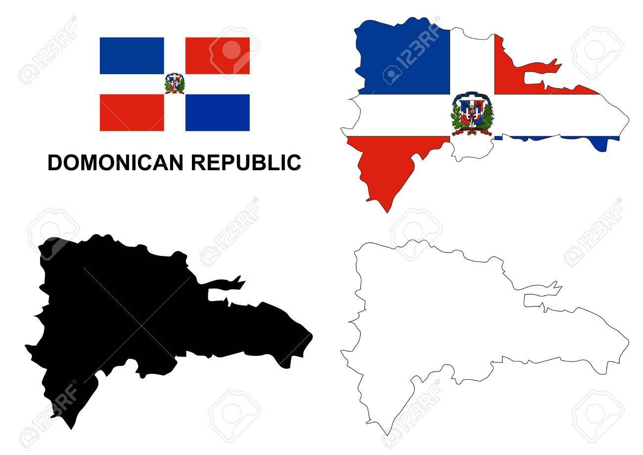 Dominican Republic Map Vector Dominican Republic Flag Vector - Dominican republic map vector