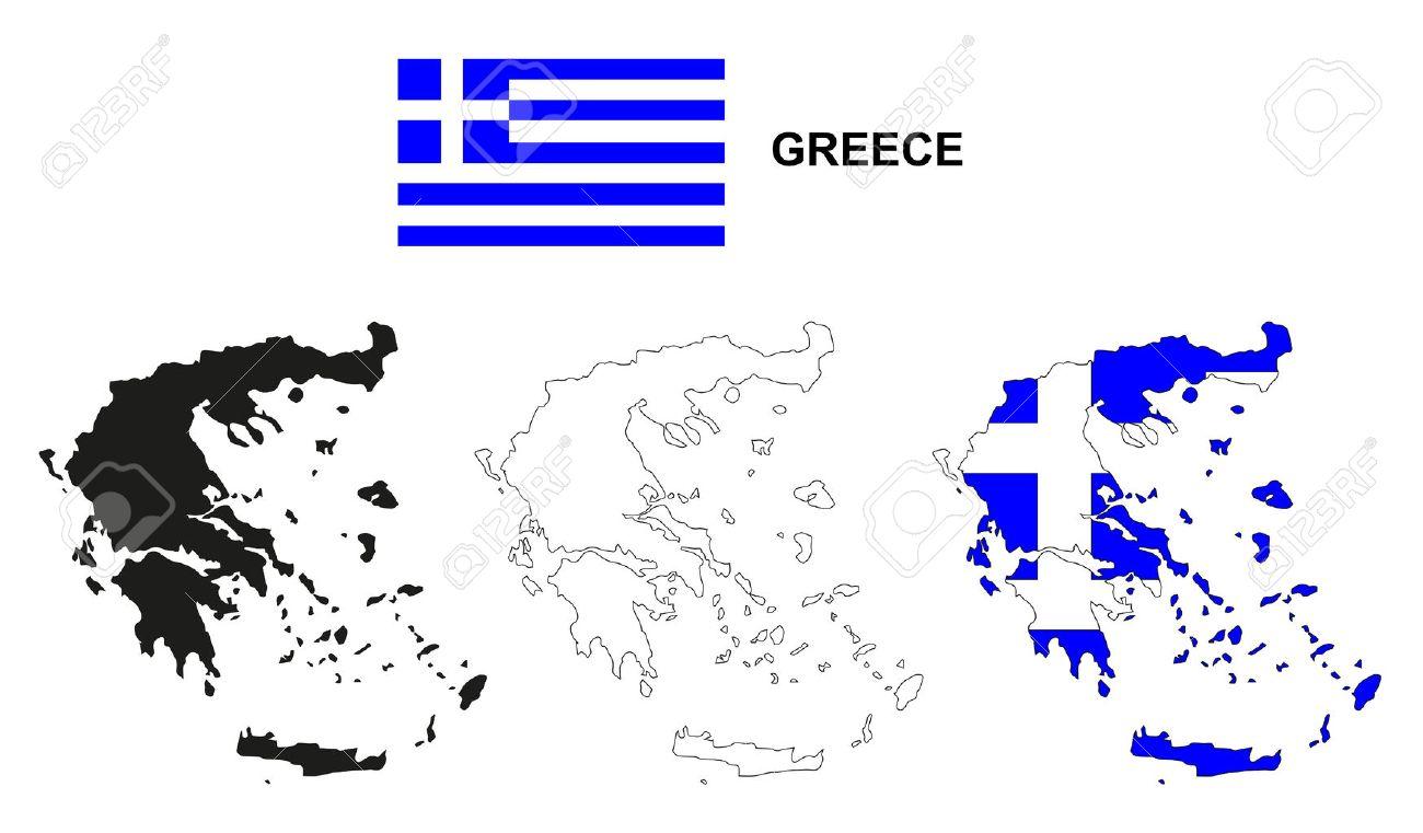 Greece Map Vector, Greece Flag Vector, Isolated Greece Royalty Free ...