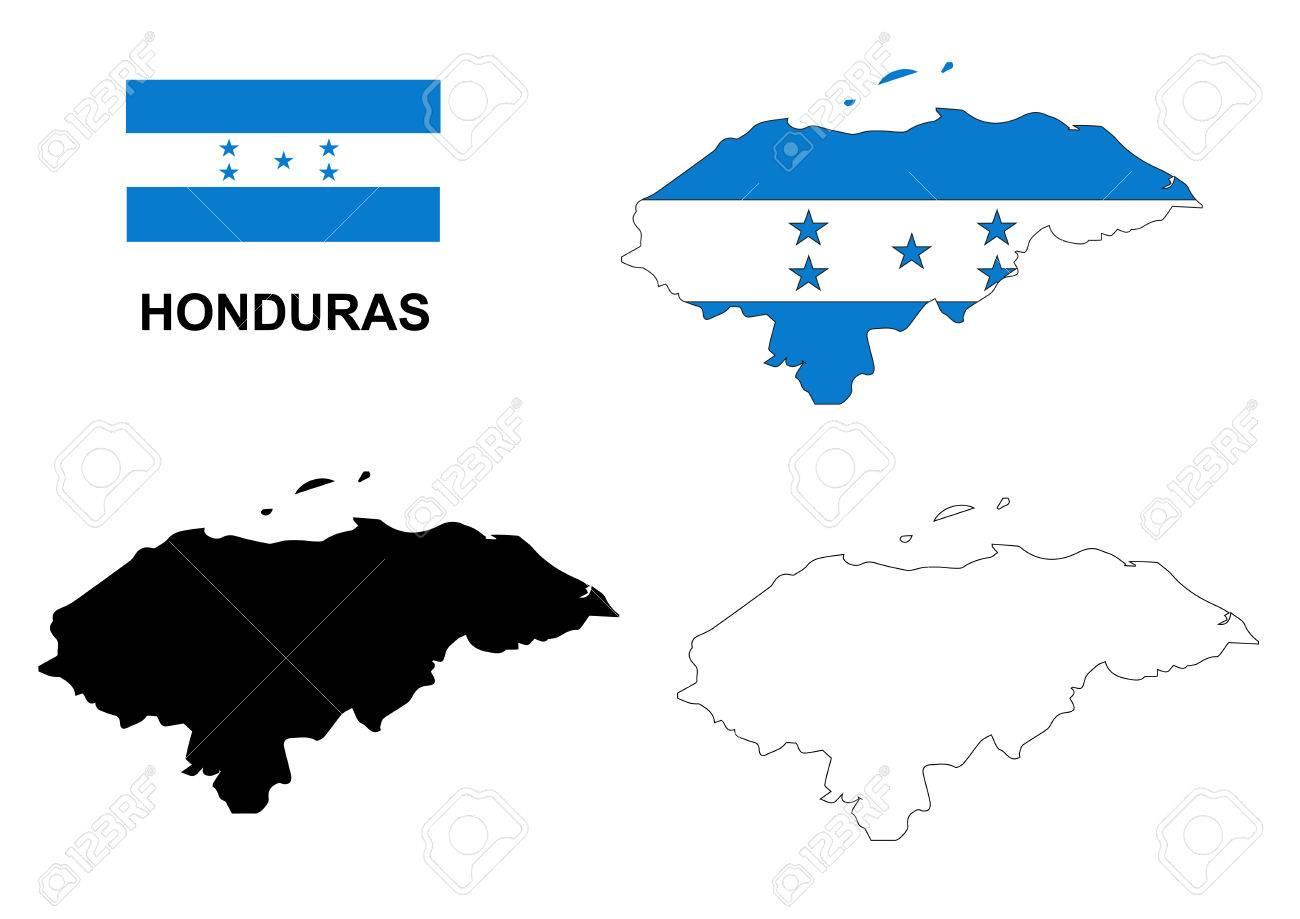 Honduras map vector, Honduras flag vector, isolated Honduras - 46314342