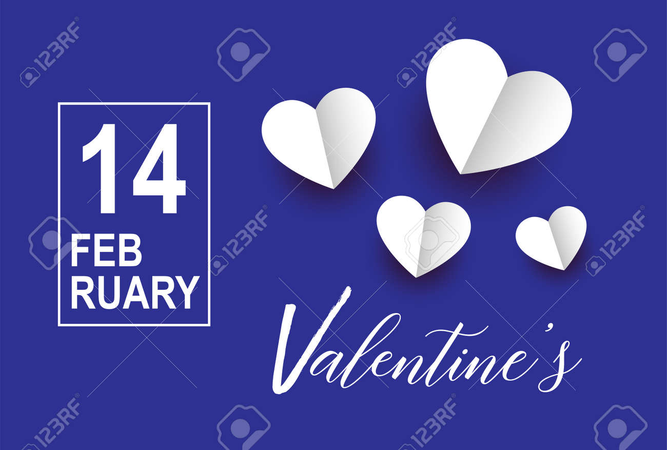 Valentines day vector with hearts background. 14 February - 162637713