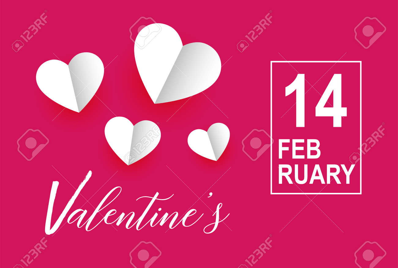 Valentines day vector with hearts background. 14 February - 162638025