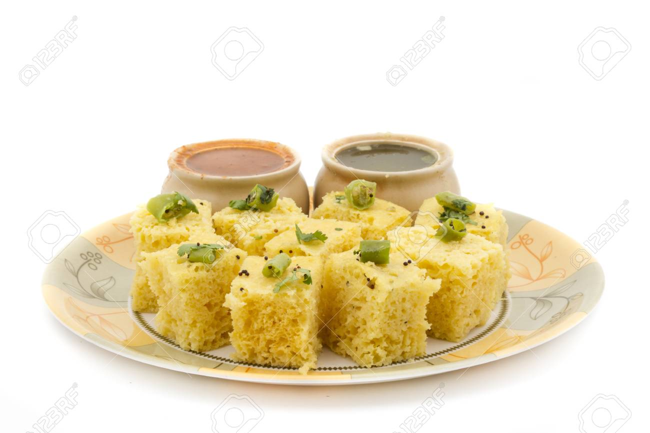 Khaman Dhokala is a food common in the Gujarat state of India