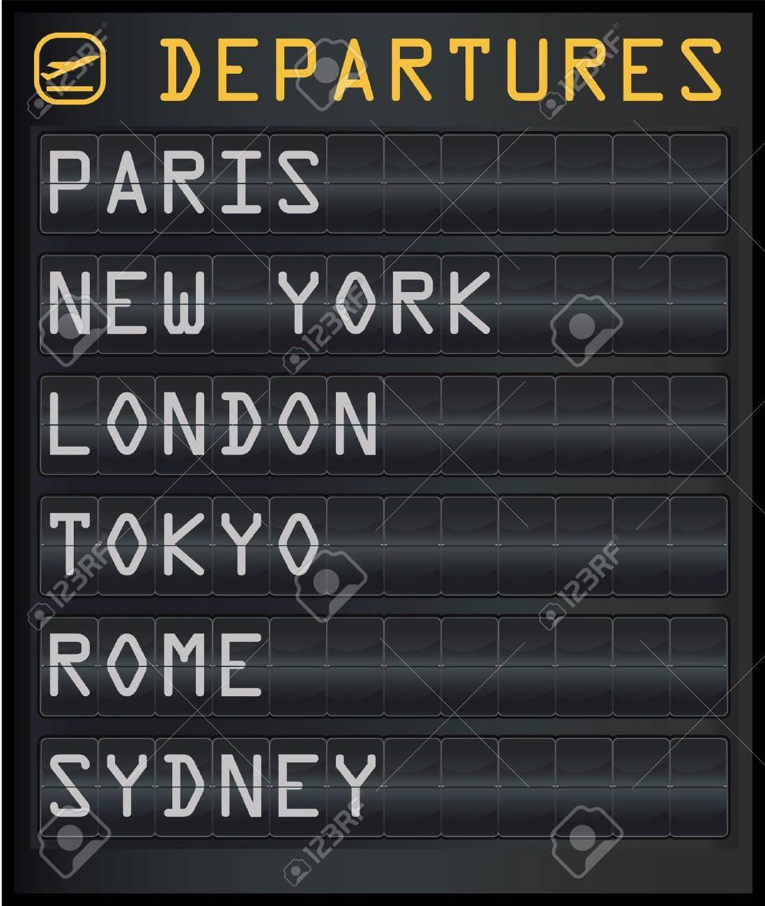 airport departure board Stock Vector - 11562852