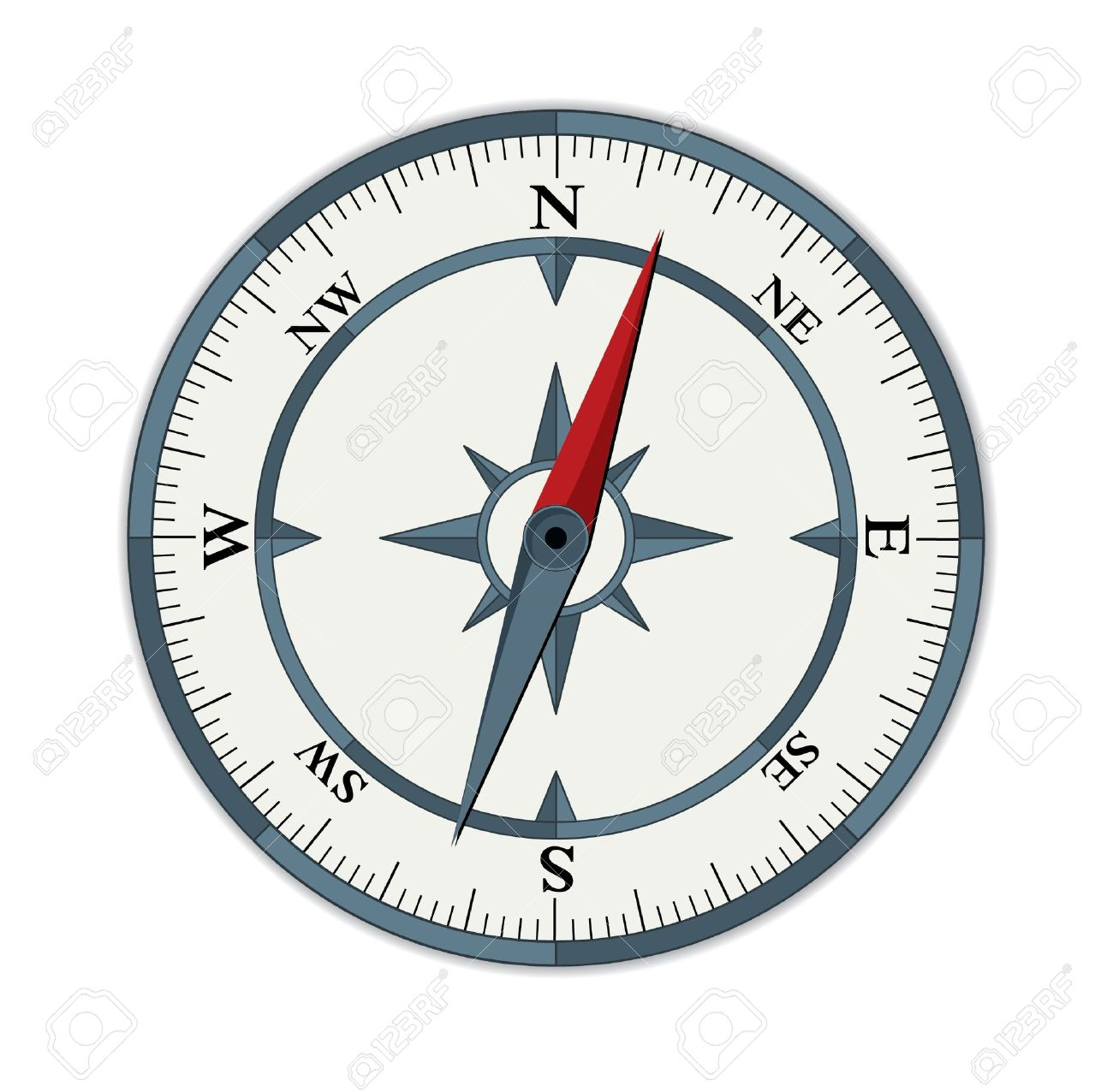 vector compass illustration Stock Vector - 11562830