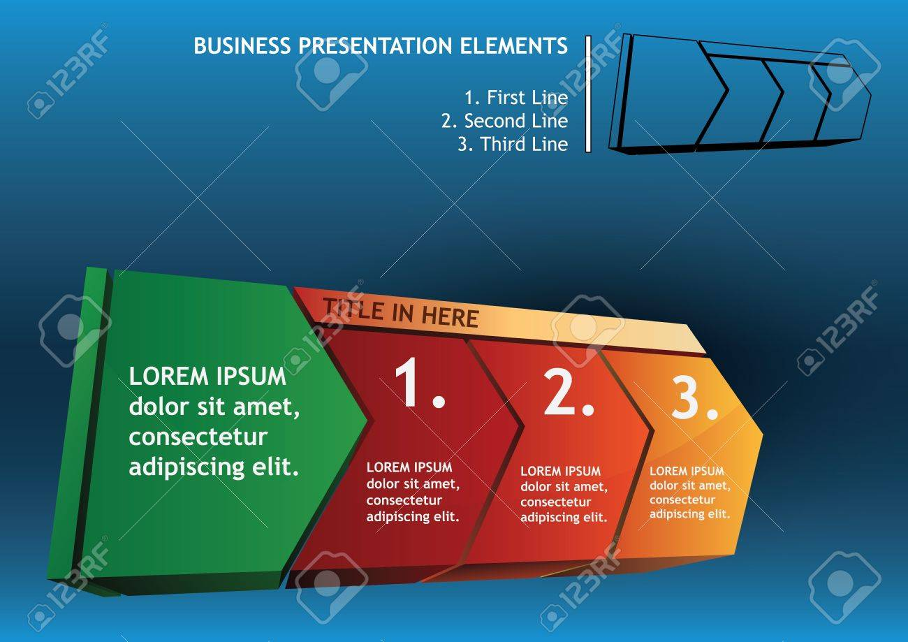 Presentation with directional elements Stock Vector - 11562908