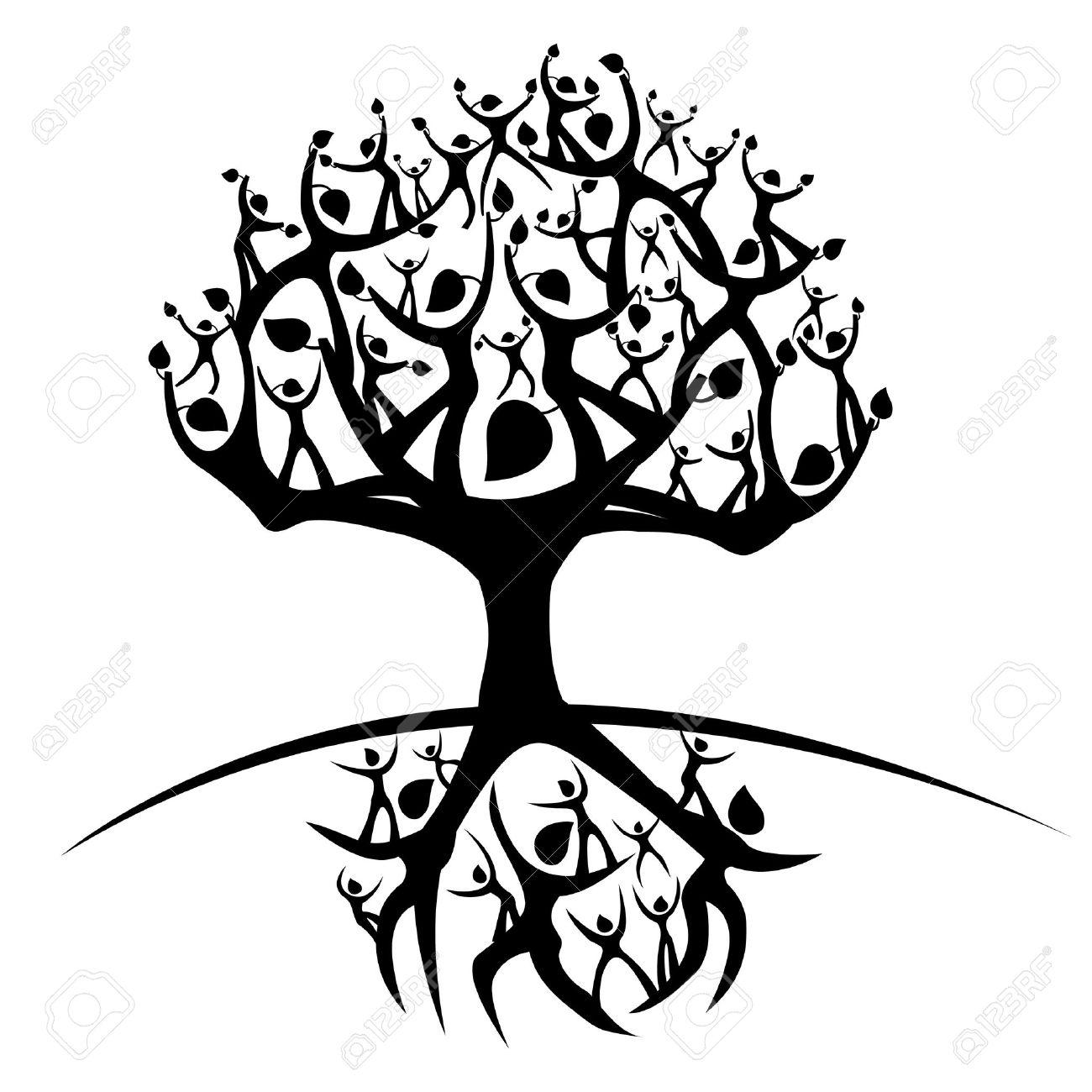 tree roots : illustration of