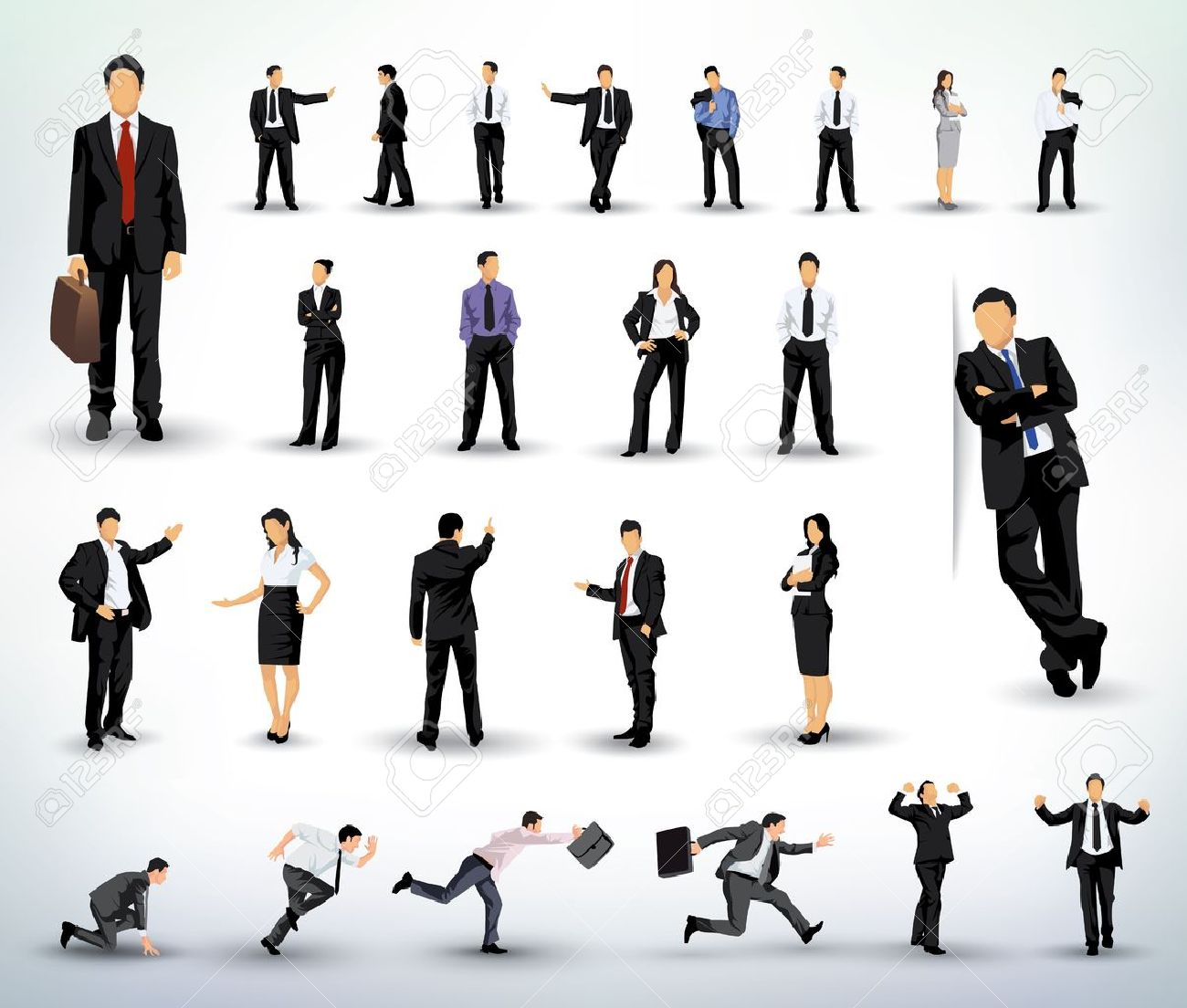 Business People illustrations Stock Vector - 17984643