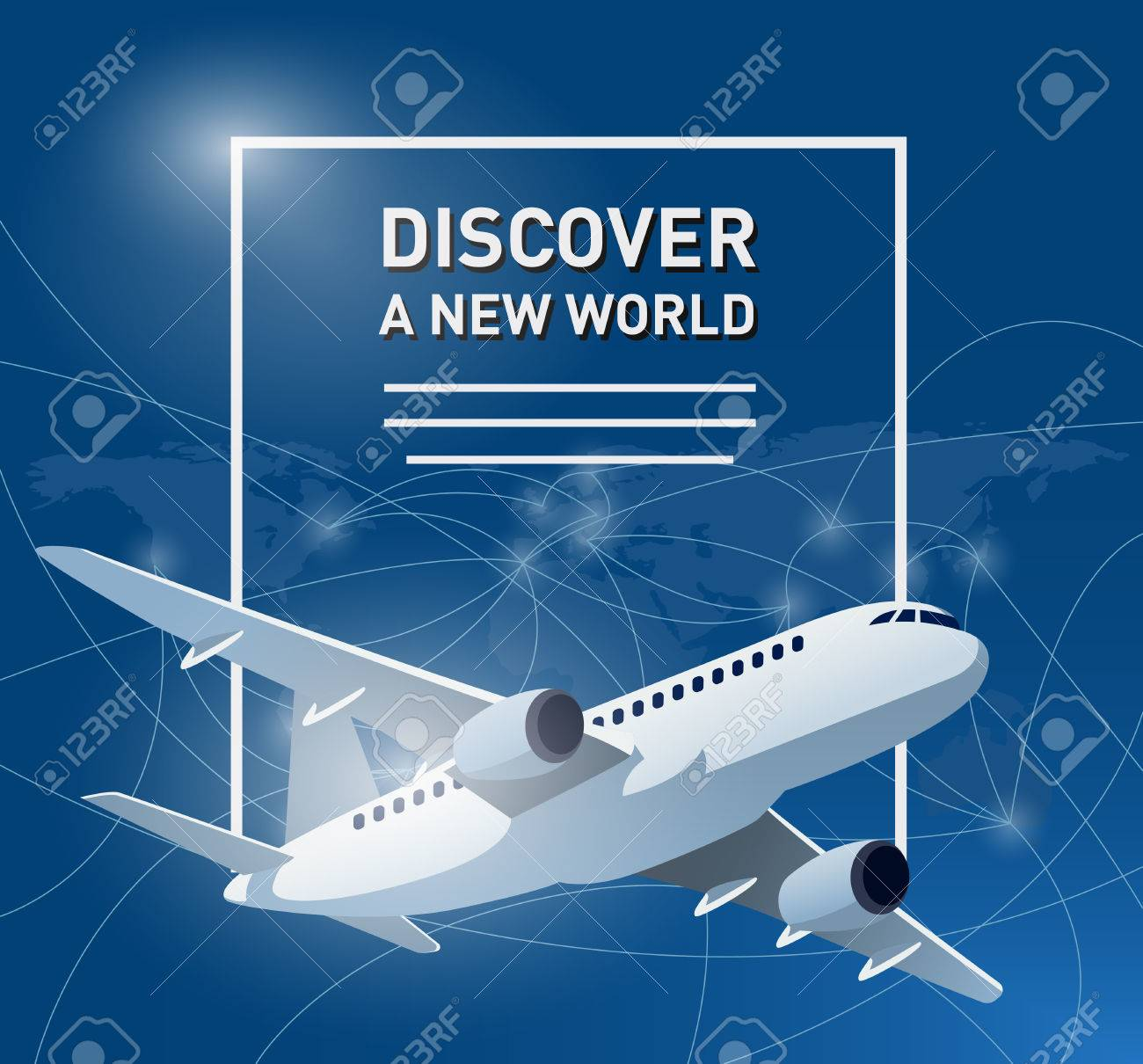 Travelling banner with an aircraft and world map in the background travelling banner with an aircraft and world map in the background with travel destinations stock vector gumiabroncs