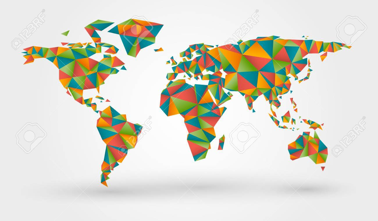 Polygonal colorful world map in origami style royalty free cliparts polygonal colorful world map in origami style stock vector 66021039 gumiabroncs Gallery