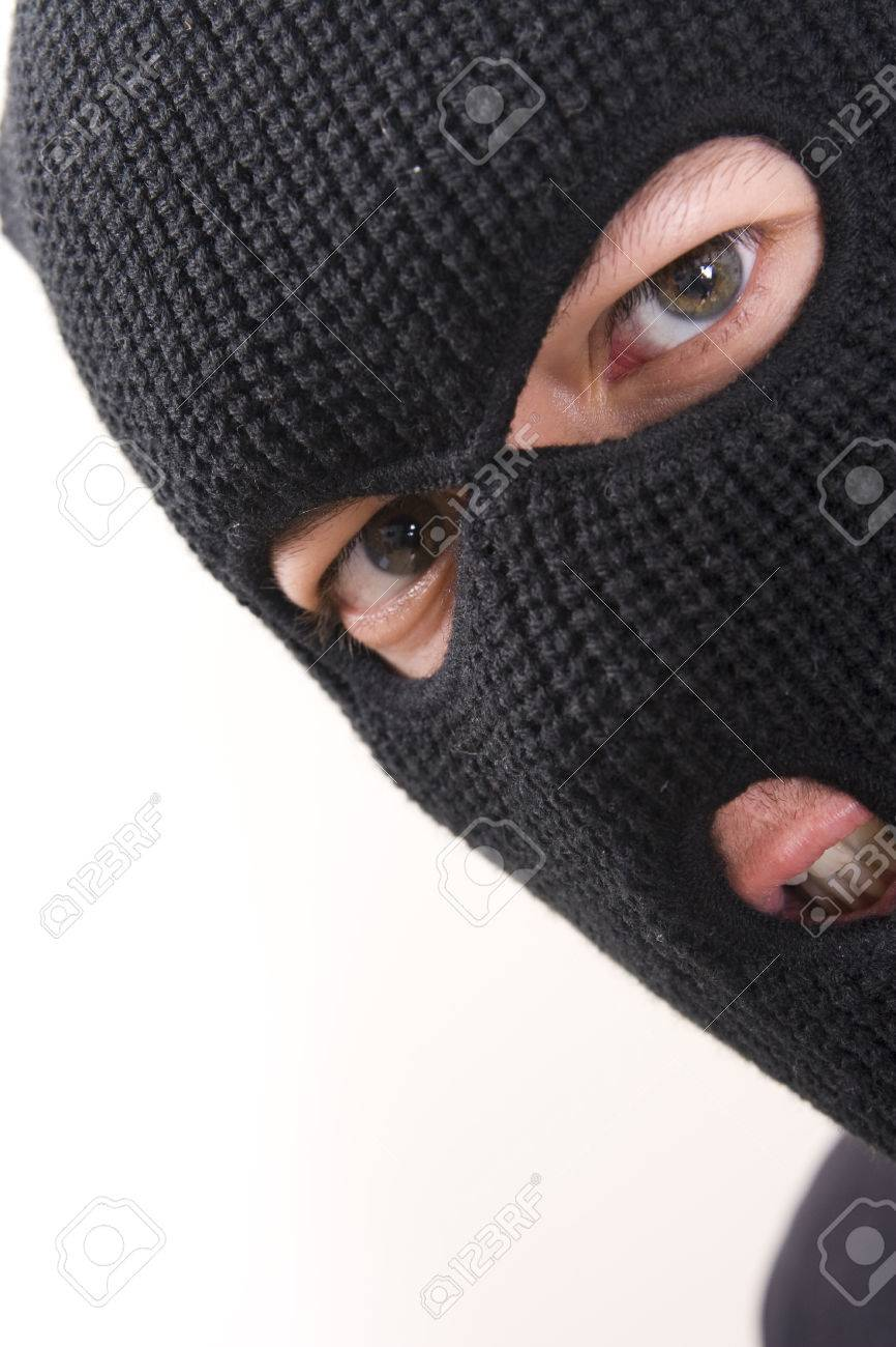 evil criminal wearing military mask - 1648755