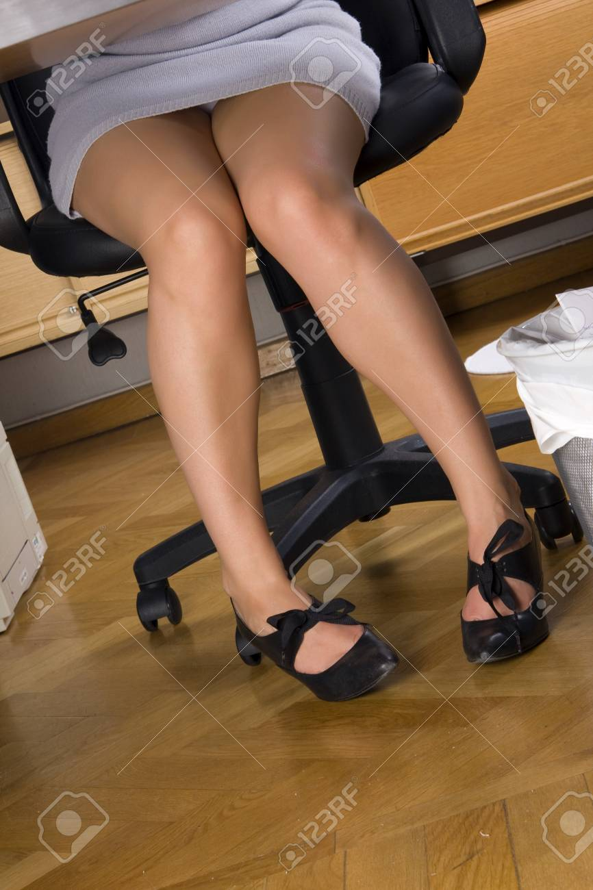 Secretary Legs Under The Table Stock Photo Picture And Royalty Free