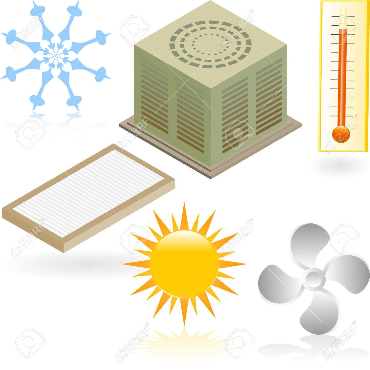 Air Conditioner Icons Stock Vector - 4904238