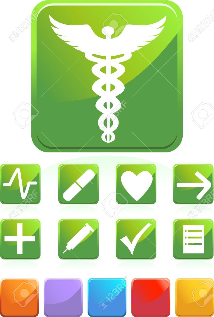 Medical Green Set Stock Vector - 4920175