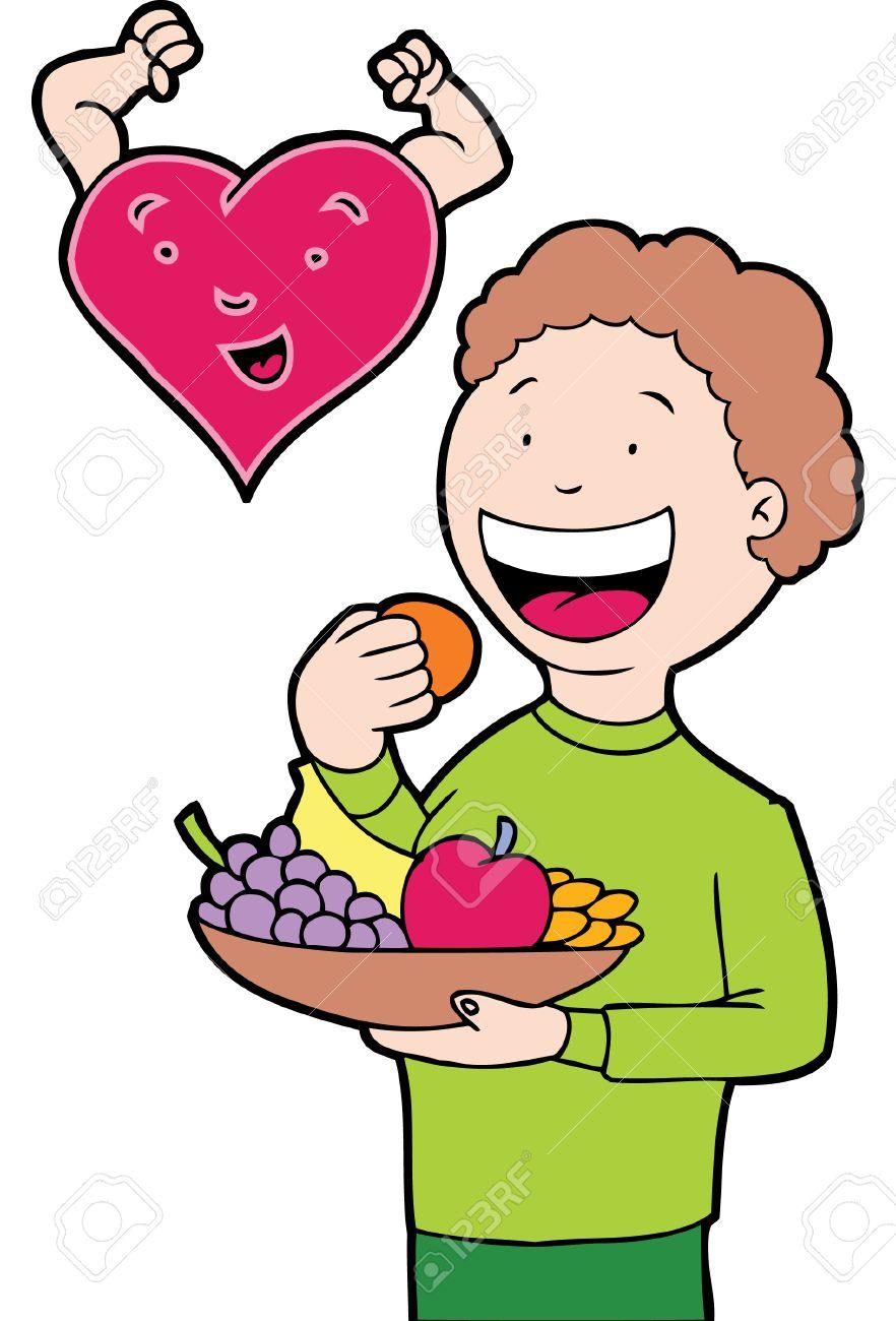 Alimentación Saludable Ilustraciones Vectoriales Clip Art