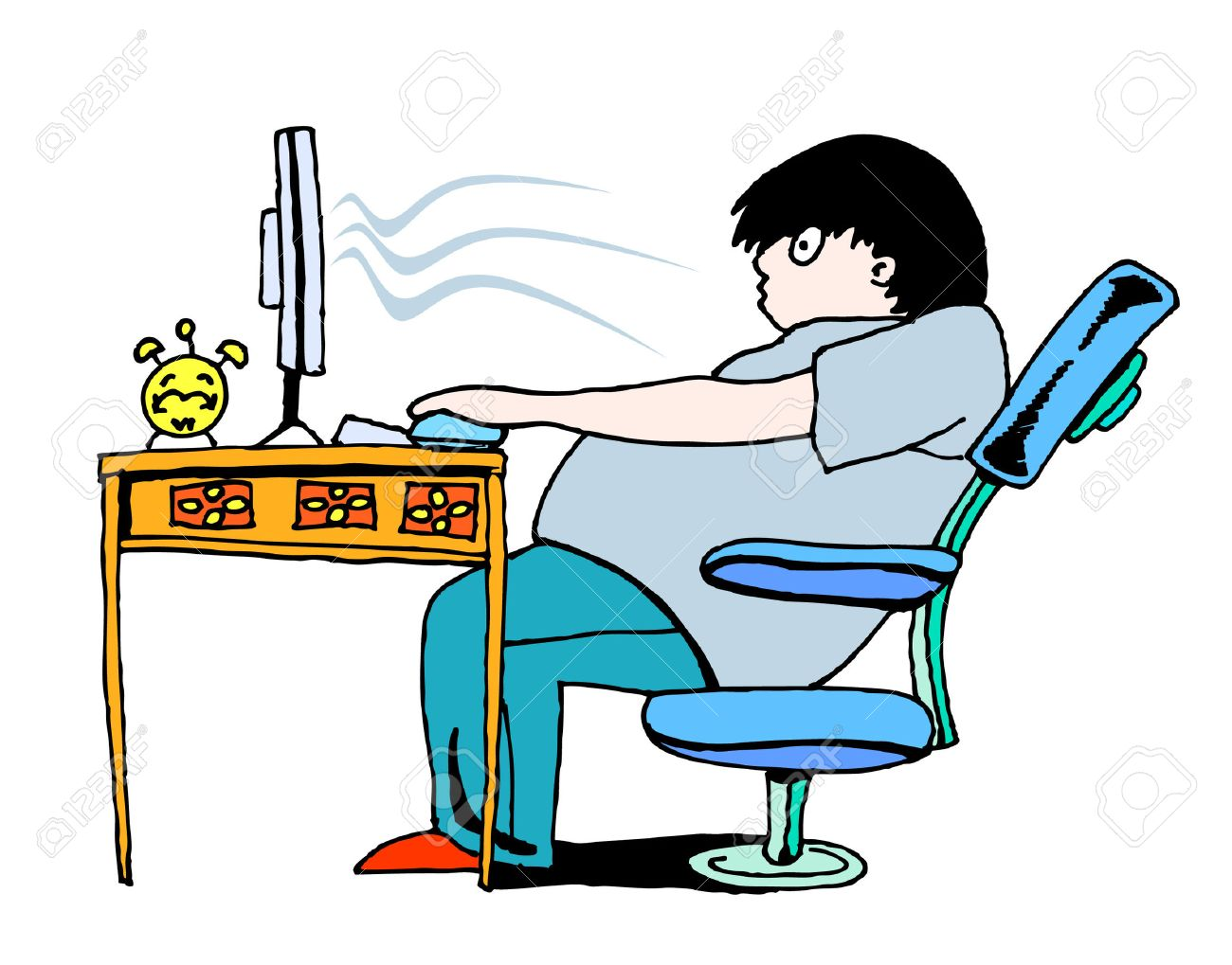computer addiction Stock Vector - 5326163